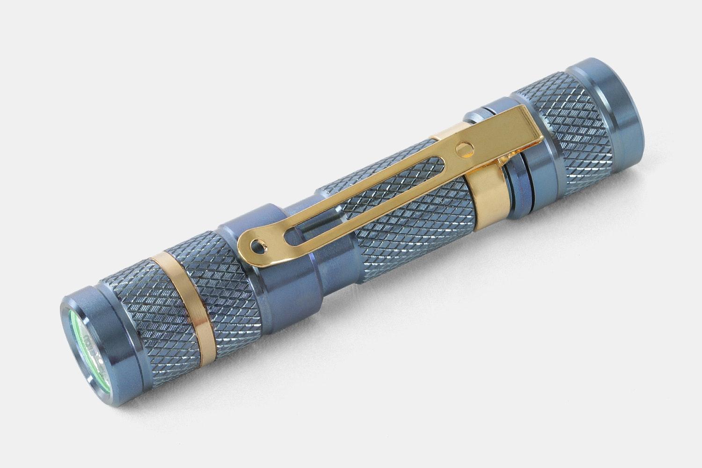 Massdrop Blue Titanium AAA Flashlight
