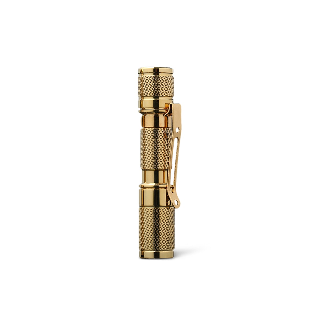 Massdrop Brass AAA Pocket Flashlight