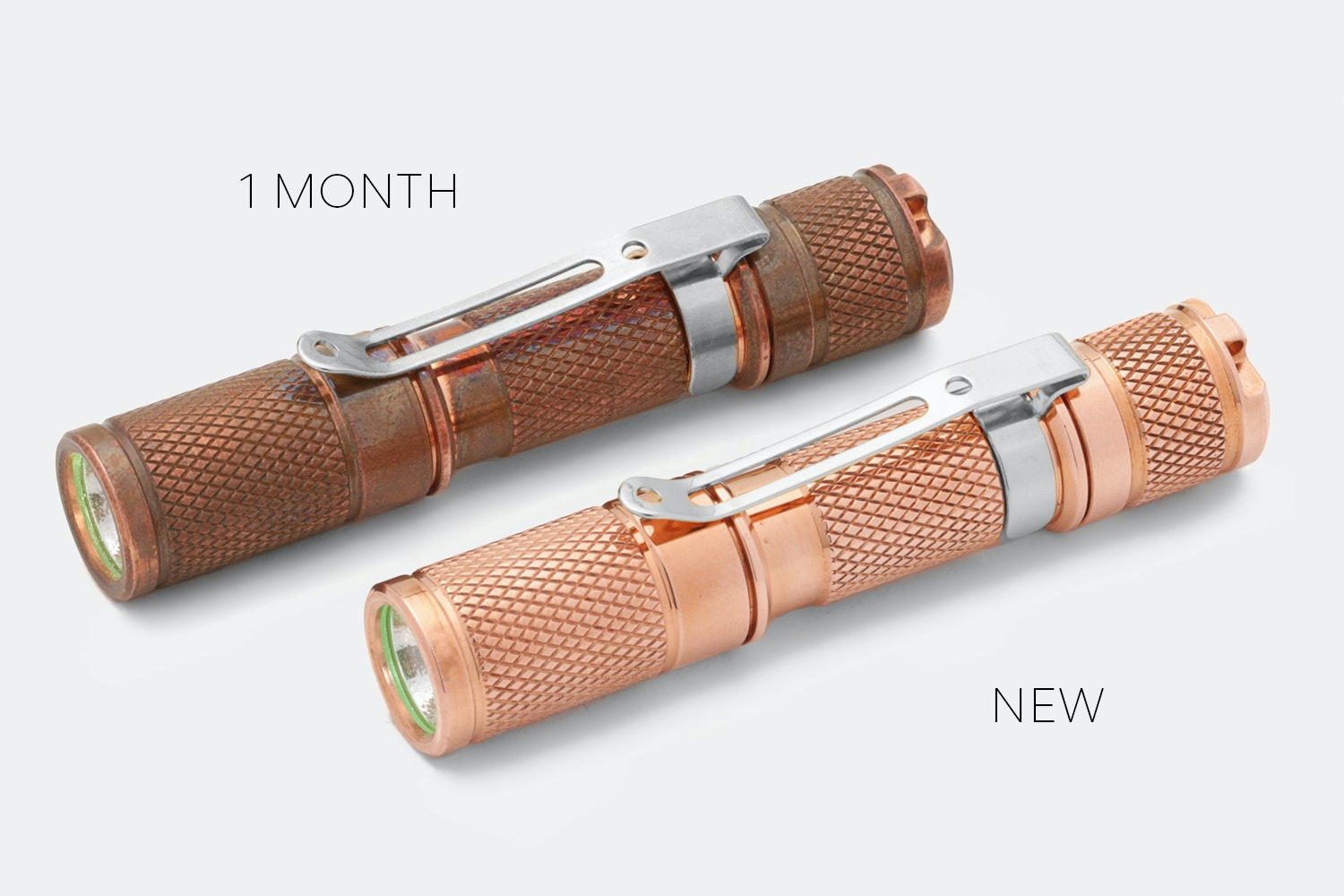 Massdrop Copper AAA Pocket Flashlight