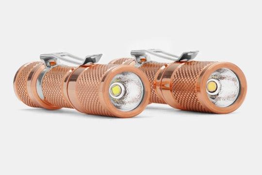 Drop Copper AAA Pocket Flashlight
