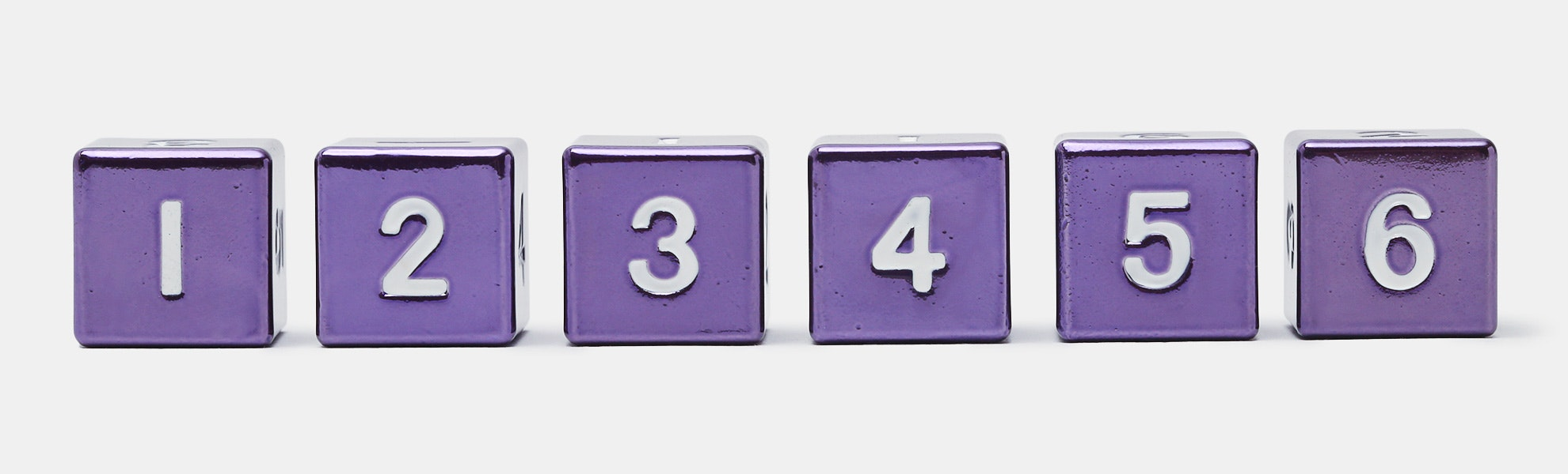 Metallic 16mm Purple D6 Set - Massdrop Exclusive
