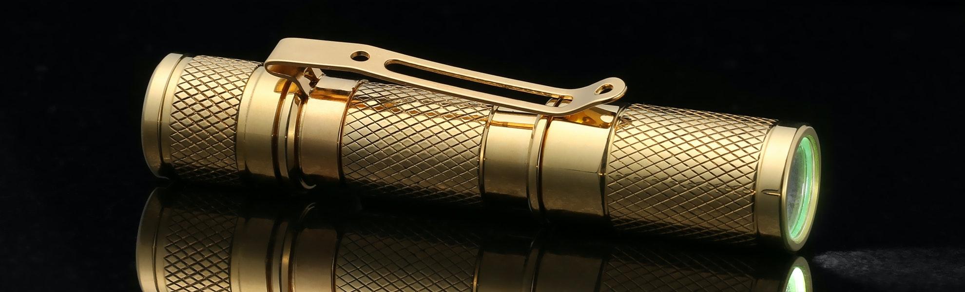 Massdrop Brass AAA Pocket Flashlight