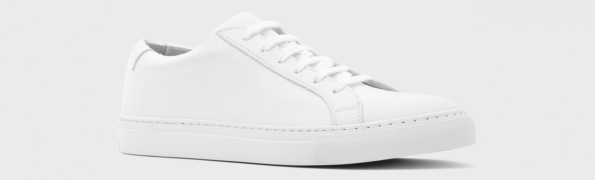 Massdrop Puro White Low-Top Sneaker