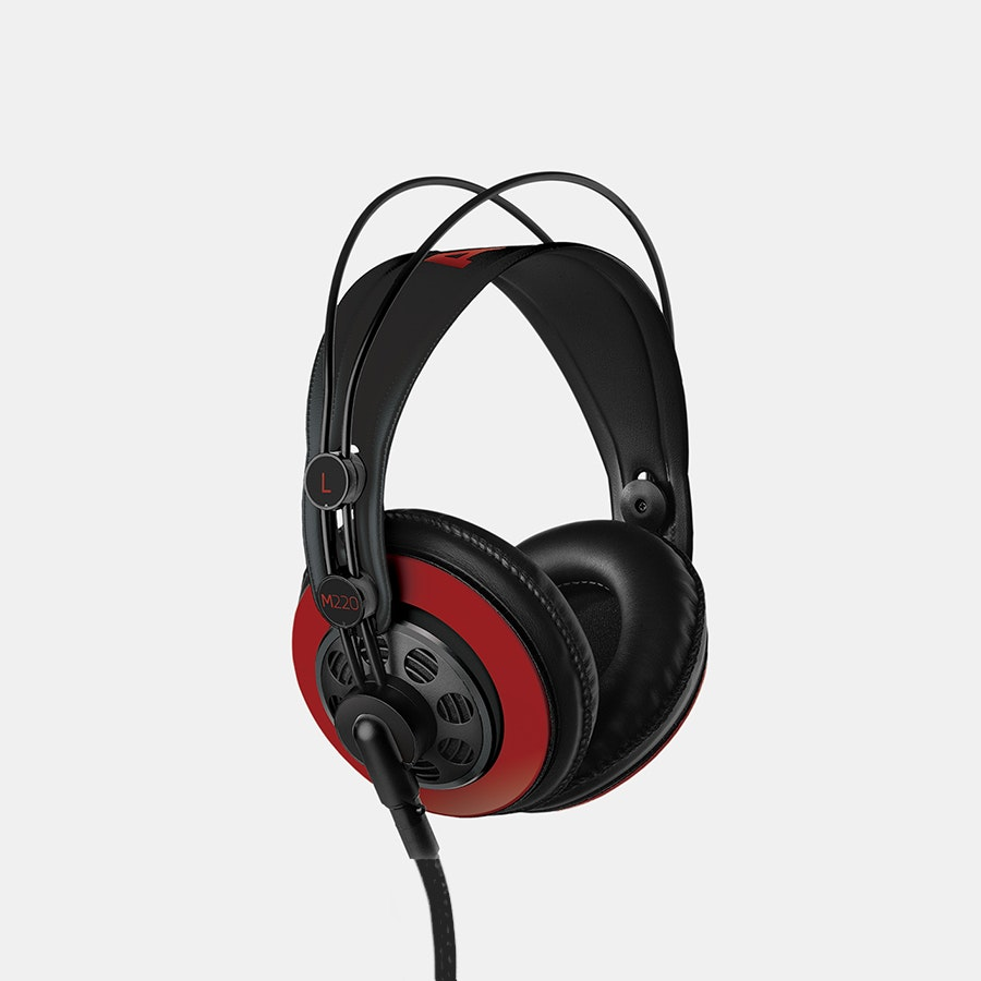 Massdrop x AKG M220 Pro Headphones – Red