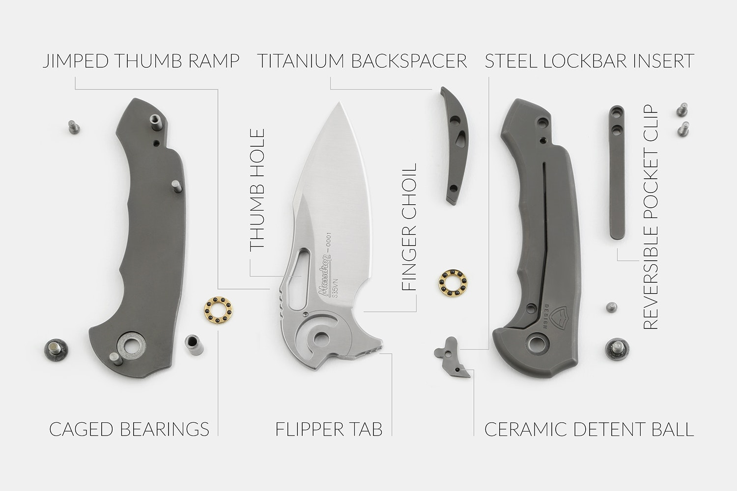 Massdrop x Ferrum Forge Falcon S35VN Folding Knife