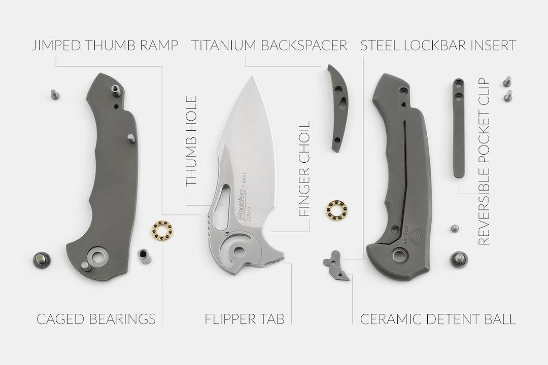 Massdrop x Ferrum Forge Falcon S35VN Folding Knife