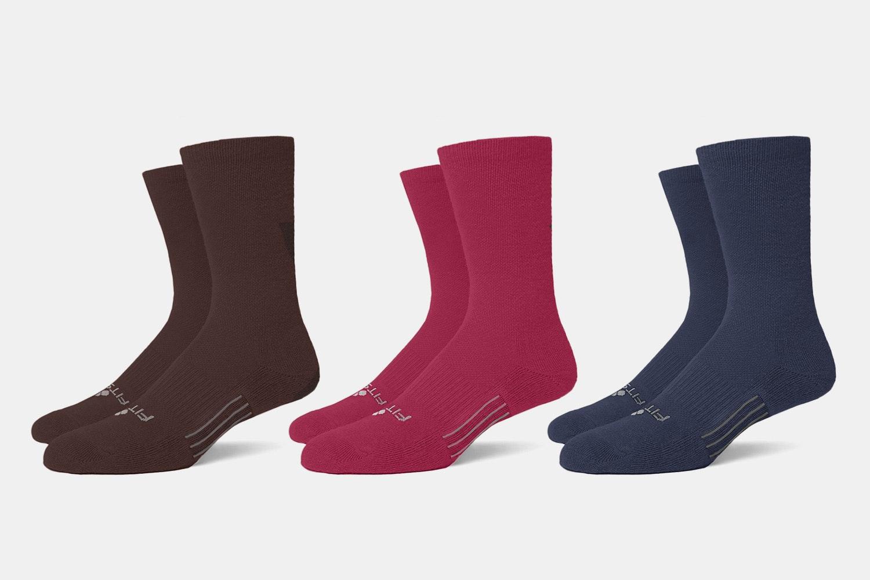 Massdrop x Fitsok Merino Socks: Winter Berry 3-Pack