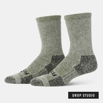 Massdrop x Fitsok Mountain Crew Socks (2-Pack)