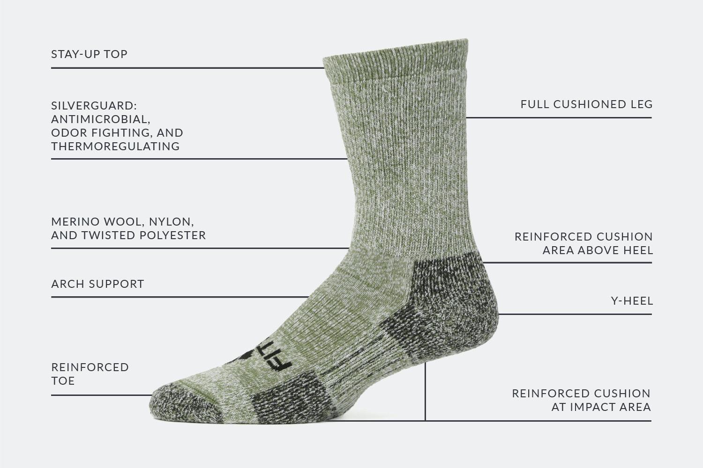 Massdrop x Fitsok Mountain Crew Socks (2-Pack)