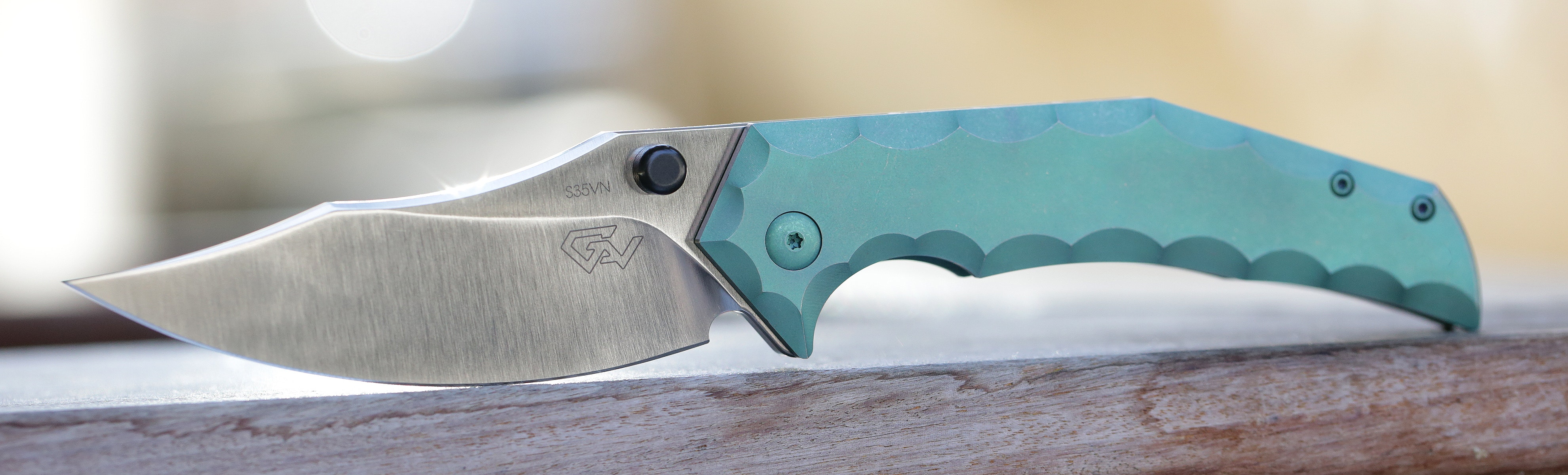 Massdrop x Gavko Thresher Titanium Frame Lock Knife