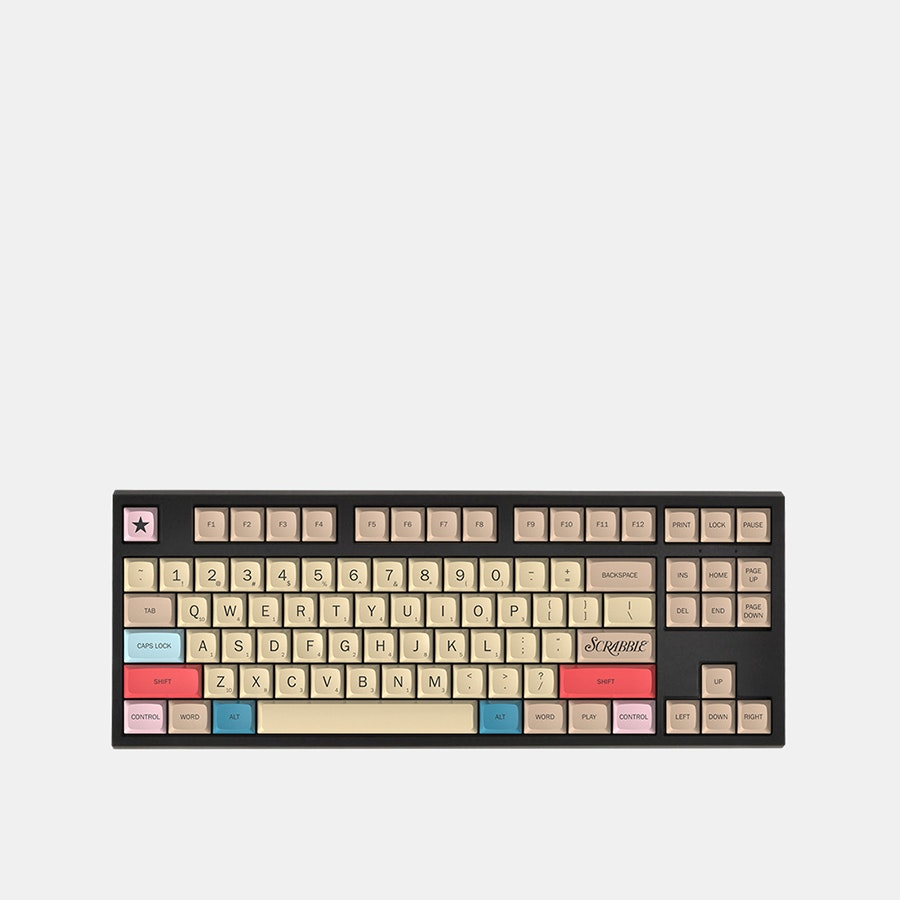Massdrop x Hasbro Scrabble Mechanical Keyboard