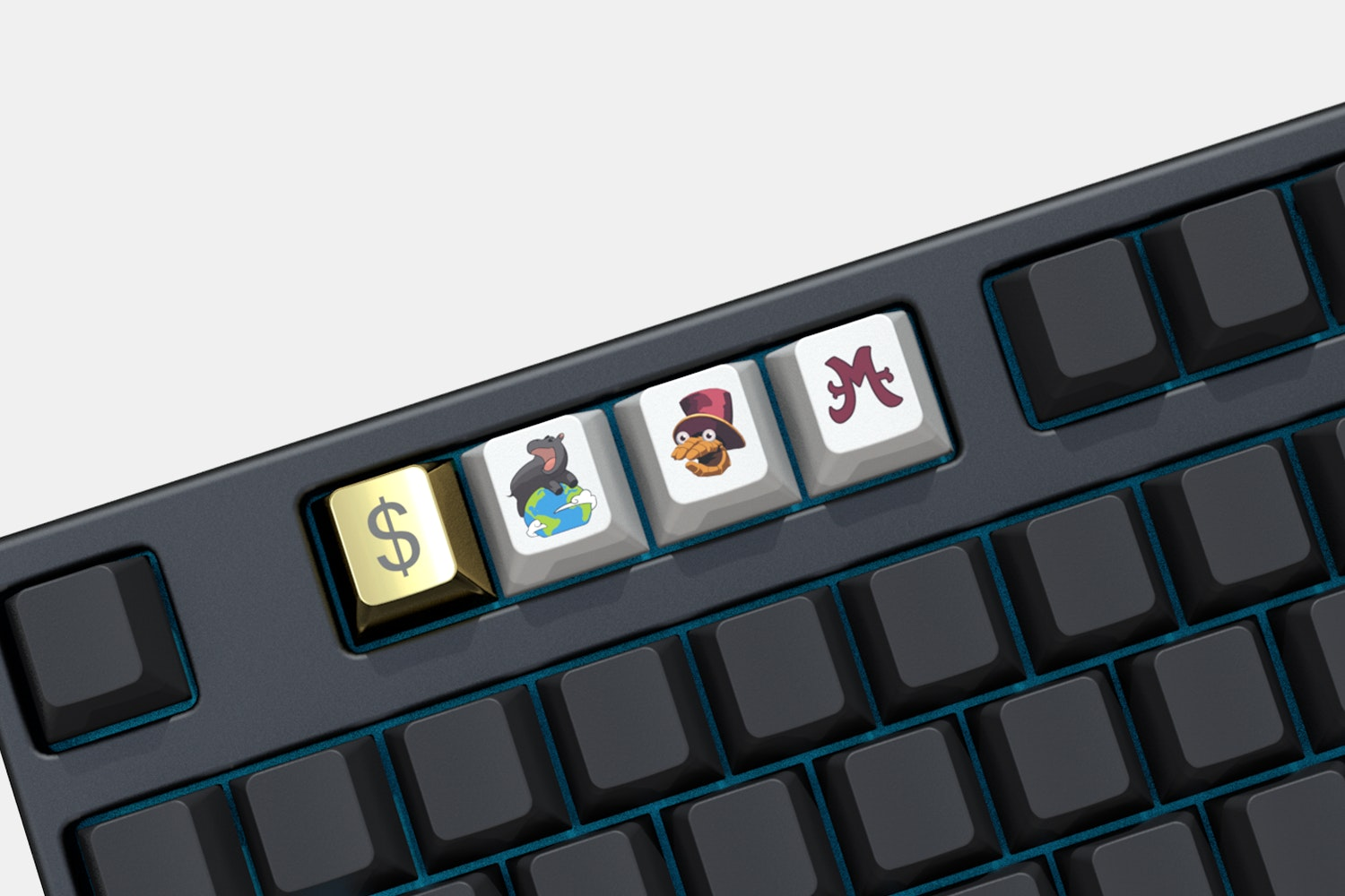 Massdrop x Moonduck Midas Mode Novelty Keycaps