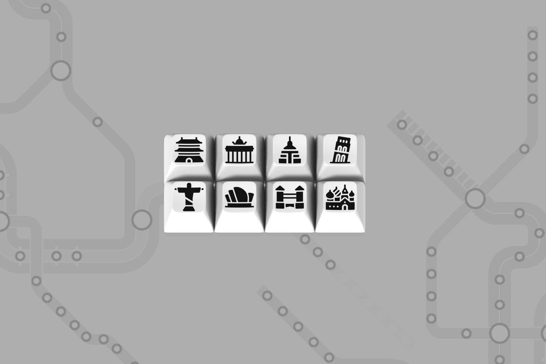Massdrop x Oblotzky Metro SA Custom Keycap Set