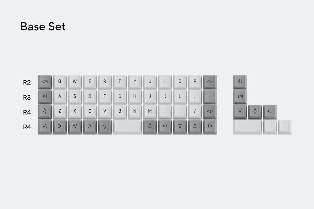 Massdrop x OLKB Acute Ortholinear Keycap Set