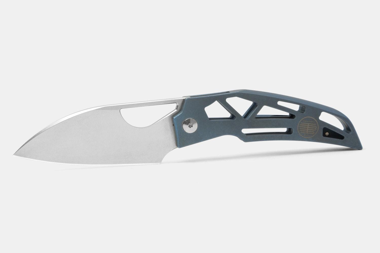 Blue handle / Stonewashed blade