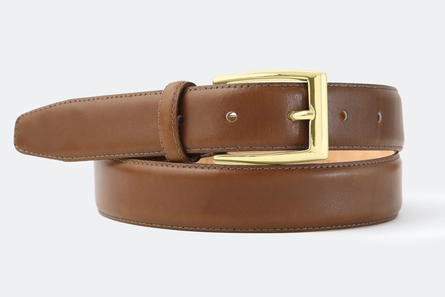 Walnut (Light Brown) - Brass Buckle