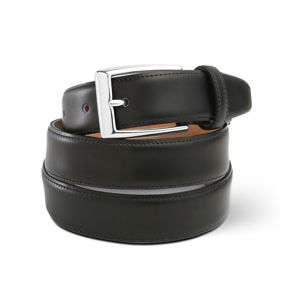 Massdrop x The British Belt Co. Dress Belt Handcrafted Leather Belt in 3 Colors -- We teamed up with The British Belt Company to develop the ideal dress belt: one that's handsome and understated, affordable and well-made. The British Belt Company has been producing leather goods since 1946, using centuries-old leather-working techniques to bring out the most in each item. Its products have been featured on the pages of GQ, Esquire, Men's Health, and Drapers, as well as countless blogs and forum reviews. To develop this custom belt, we brought in members of our Men's Style Community to help identify the most desirable materials, manufacturing processes, and price point. The result is a top-of-the-line belt to finish off any outfit, available only on Massdrop.
