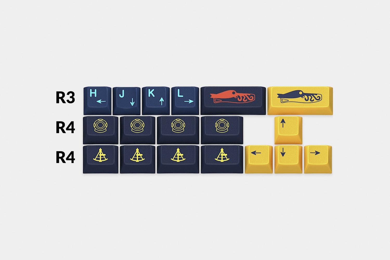 Massdrop x Zambumon GMK Nautilus Custom Keycap Set