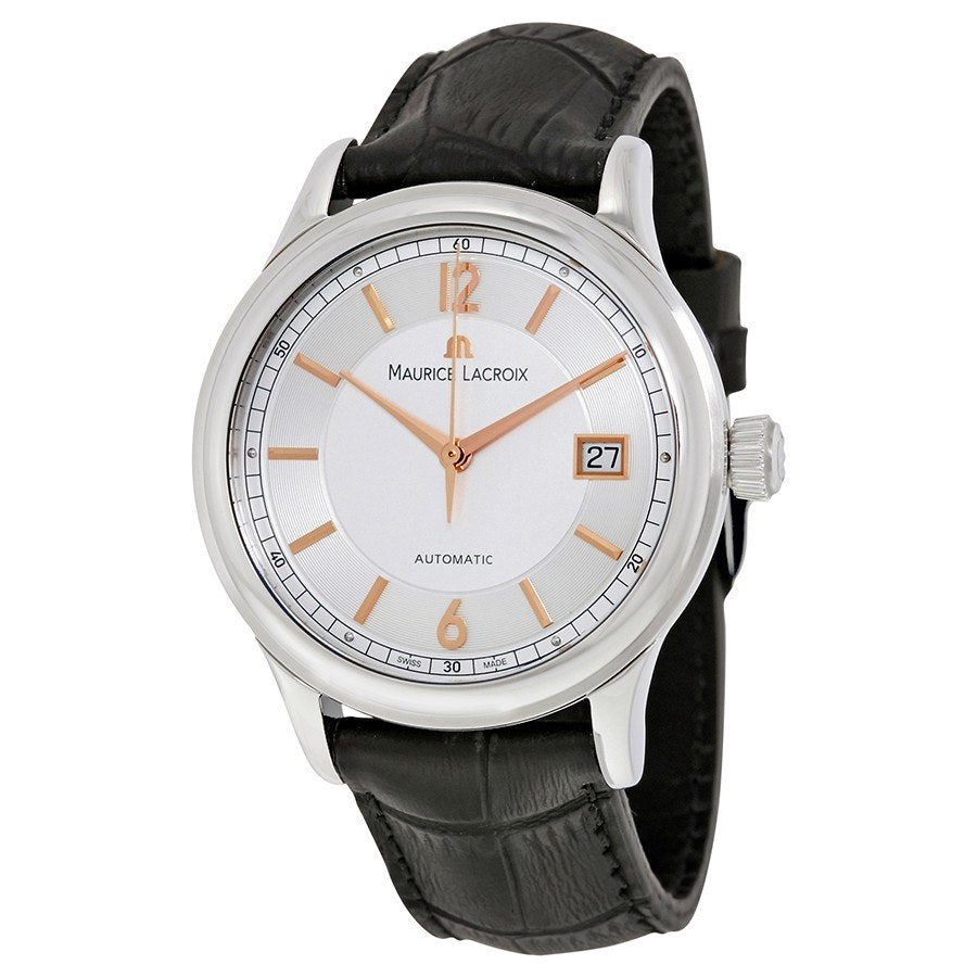 LC6027-SS001-121 | White Dial with Gold Indexes