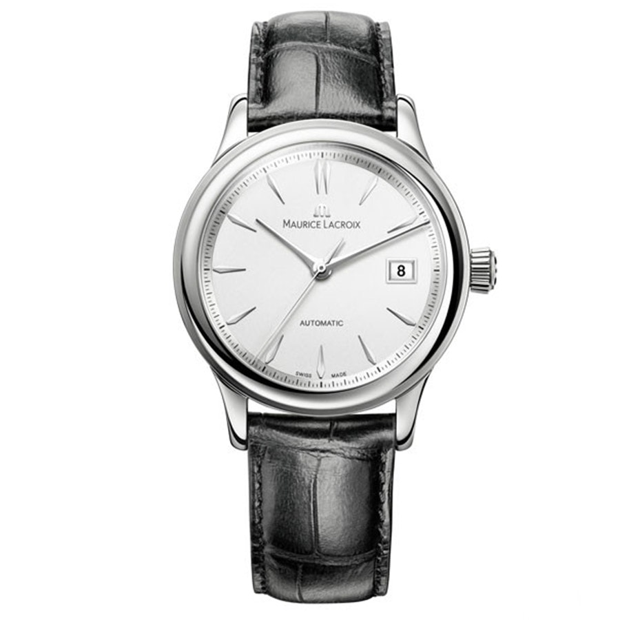 LC6027-SS001-130 | White Dial with Silver Indexes