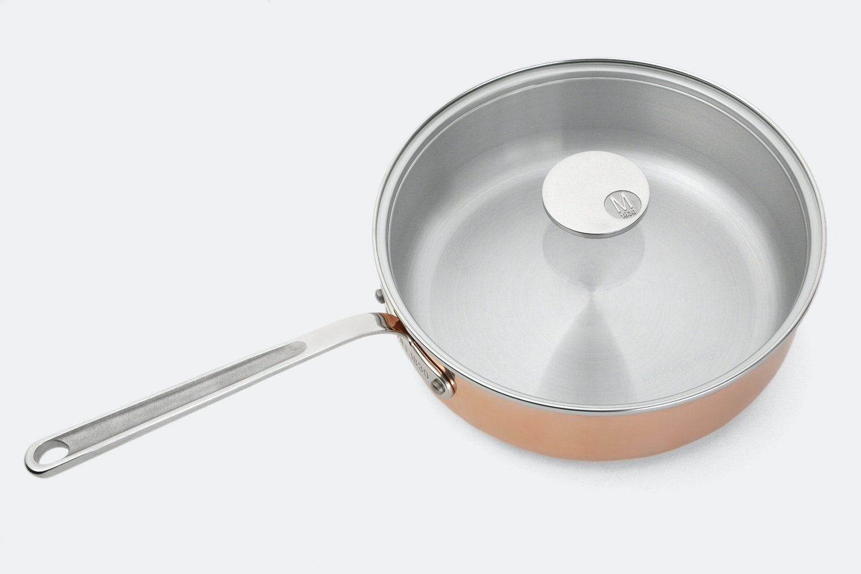 Mauviel M'150 Copper Saute Pan w/ Glass Lid
