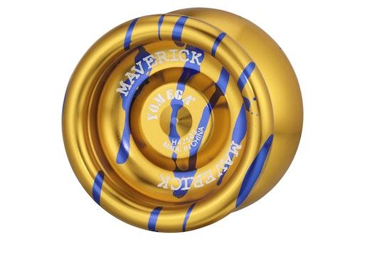 Gold with Blue Splash