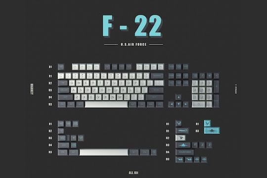 MAXKEY SA F-22 Keycap Set