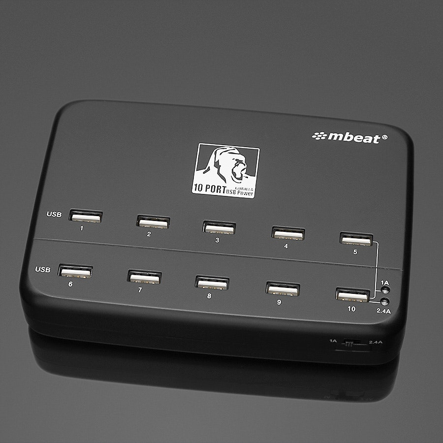 mbeat Gorilla Power 60W 10 Port USB Charging Hub