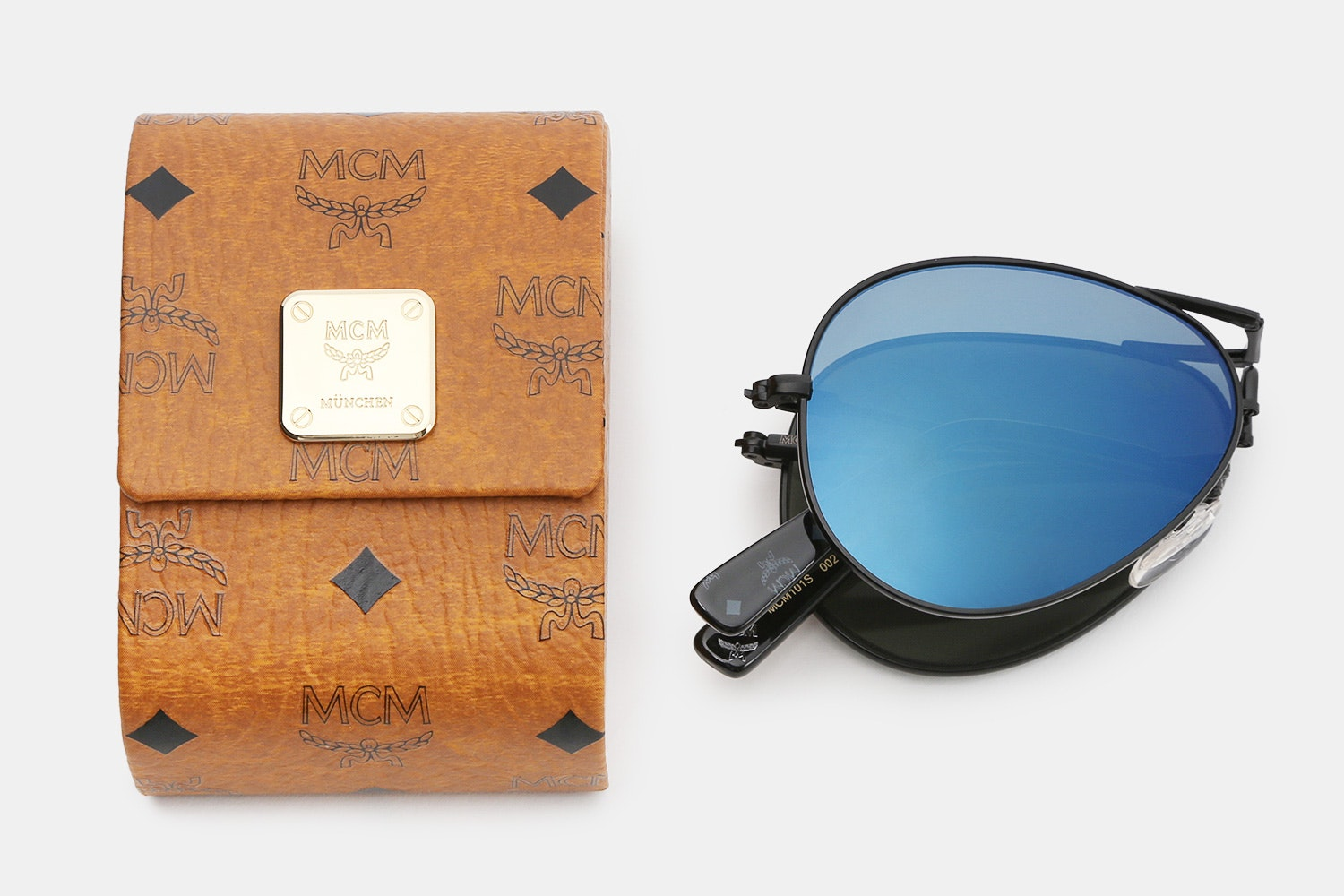 MCM Folding Aviator Sunglasses
