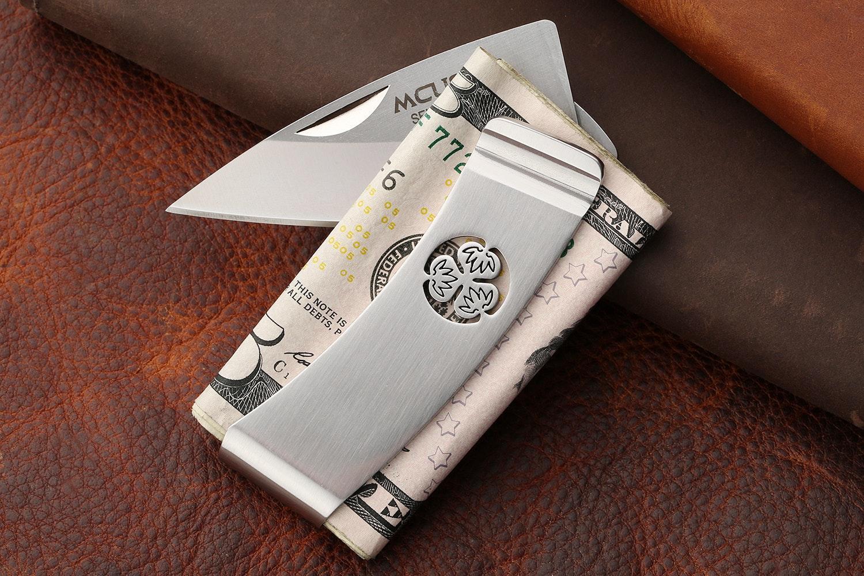 Mcusta MC-8 Kamon Crest Money Clip w/Knife