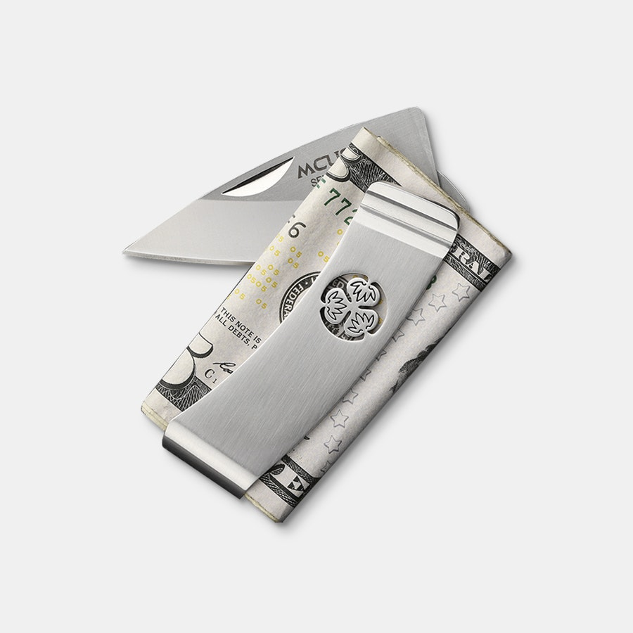Mcusta MC-8 Kamon Crest Money Clip w/Knife