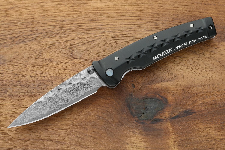 Mcusta M-16 Bushi Damascus Pocket Knife