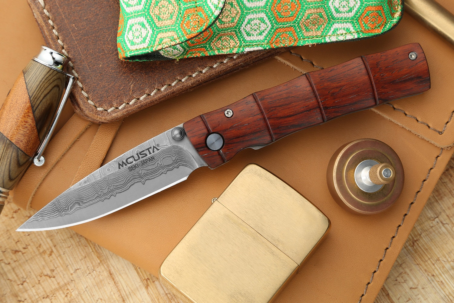 "Mcusta MC-7 ""Take"" Bamboo VG-10 Damascus Folder"