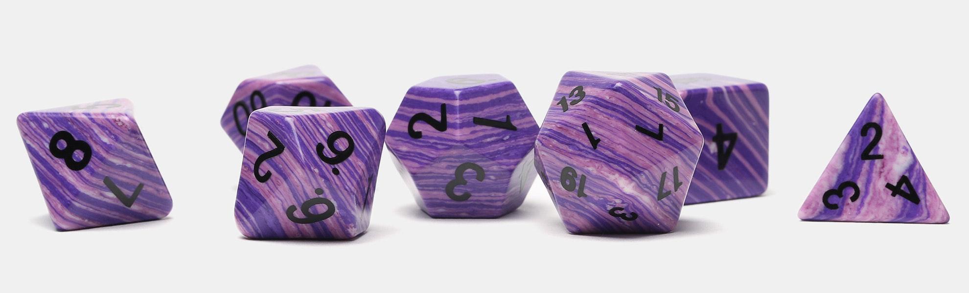 MDG 16mm Purple Wave Polyhedral Dice Set
