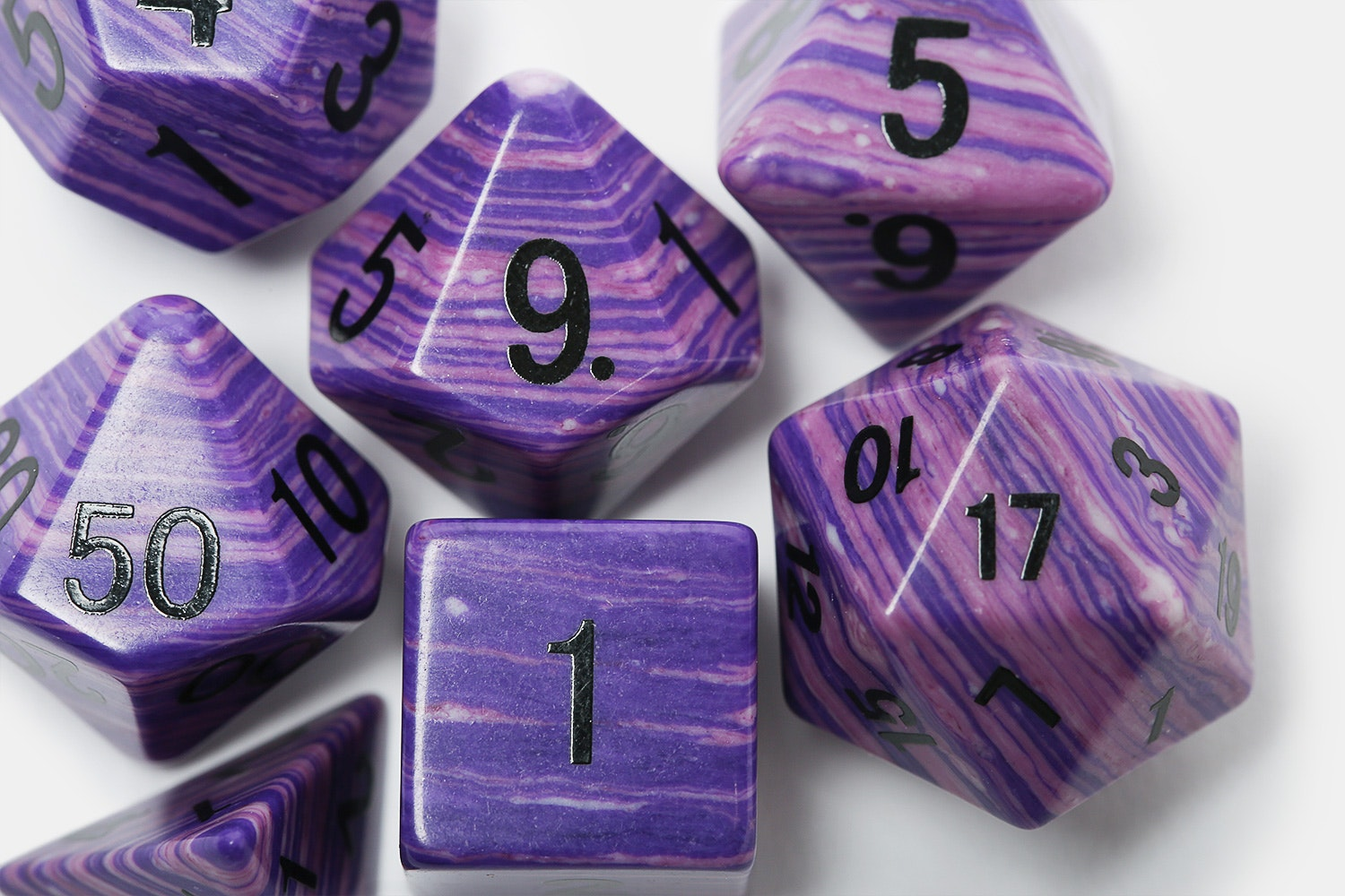 MDG 16mm Purple Wave Polyhedral Dice Set