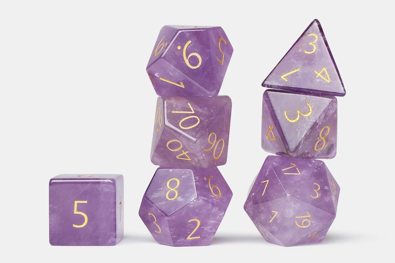 MDG Amethyst Gemstone Polyhedral Set