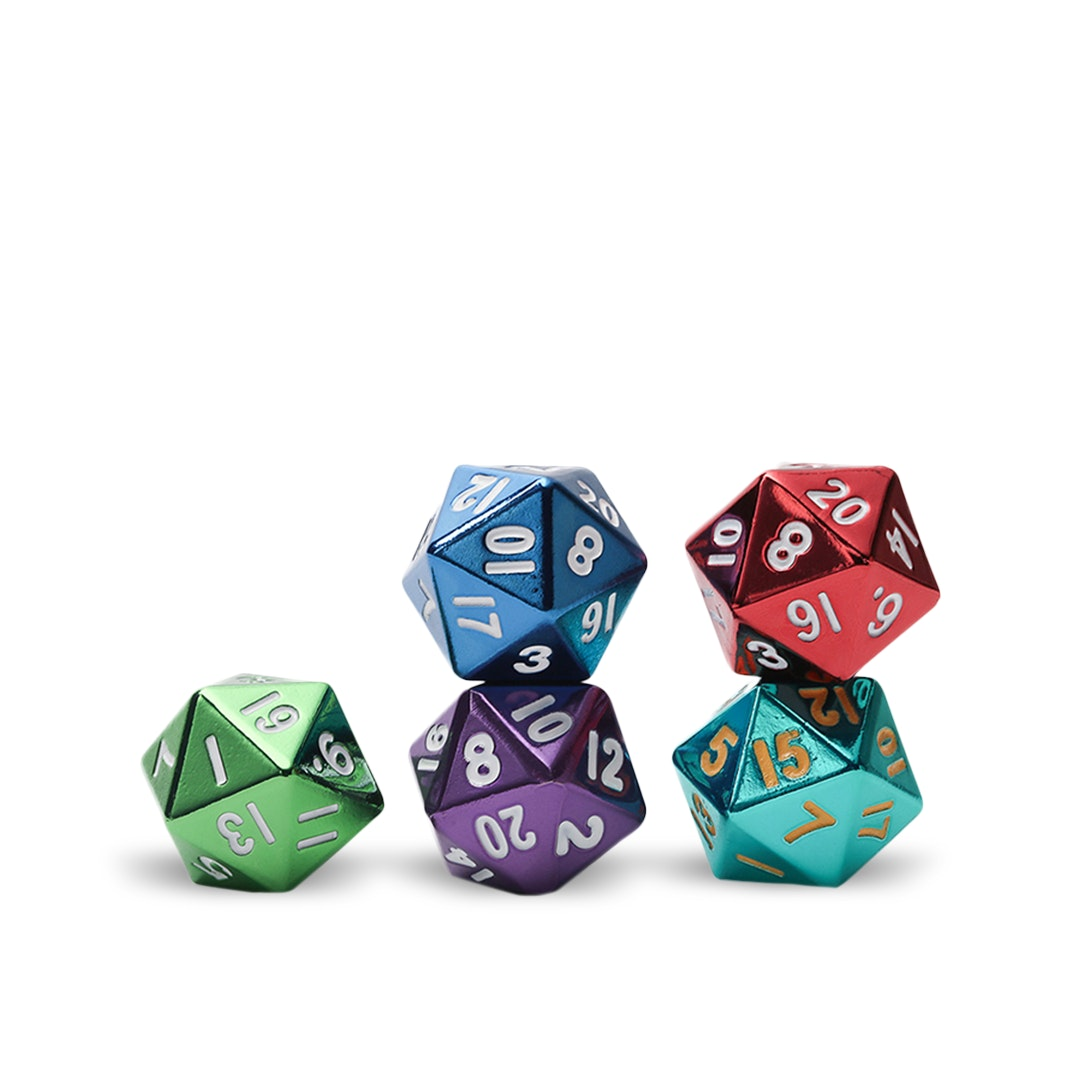 MDG Assorted Metallic D20 Set (5-pack)
