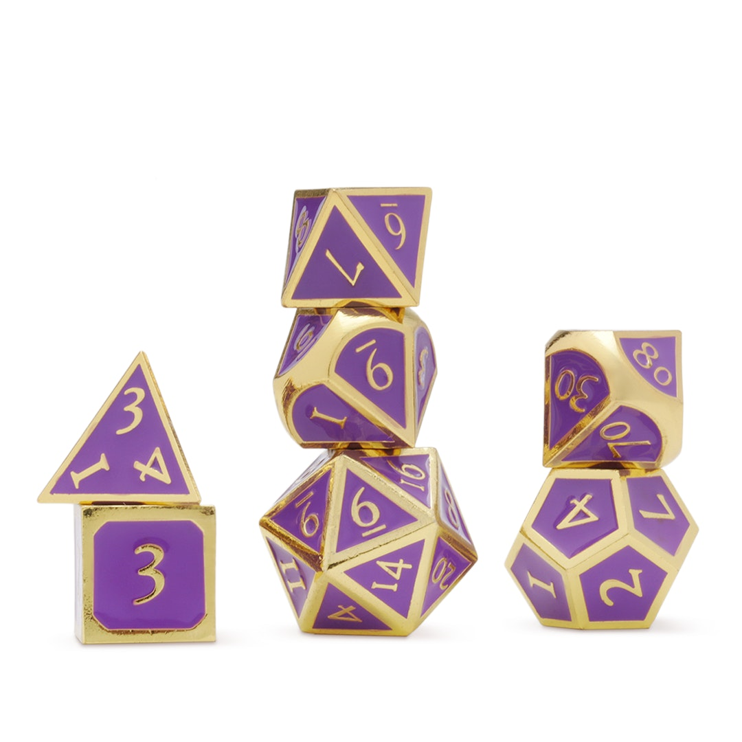 MDG 16mm Metal Enamel Polyhedral Dice Set