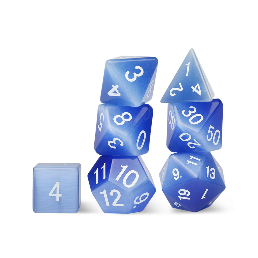 MDG Gemstone Polyhedral Dice Set