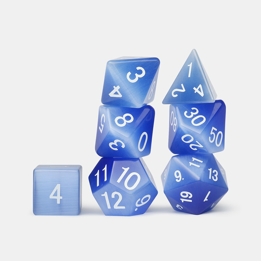MDG Gemstone Polyhedral Dice Set