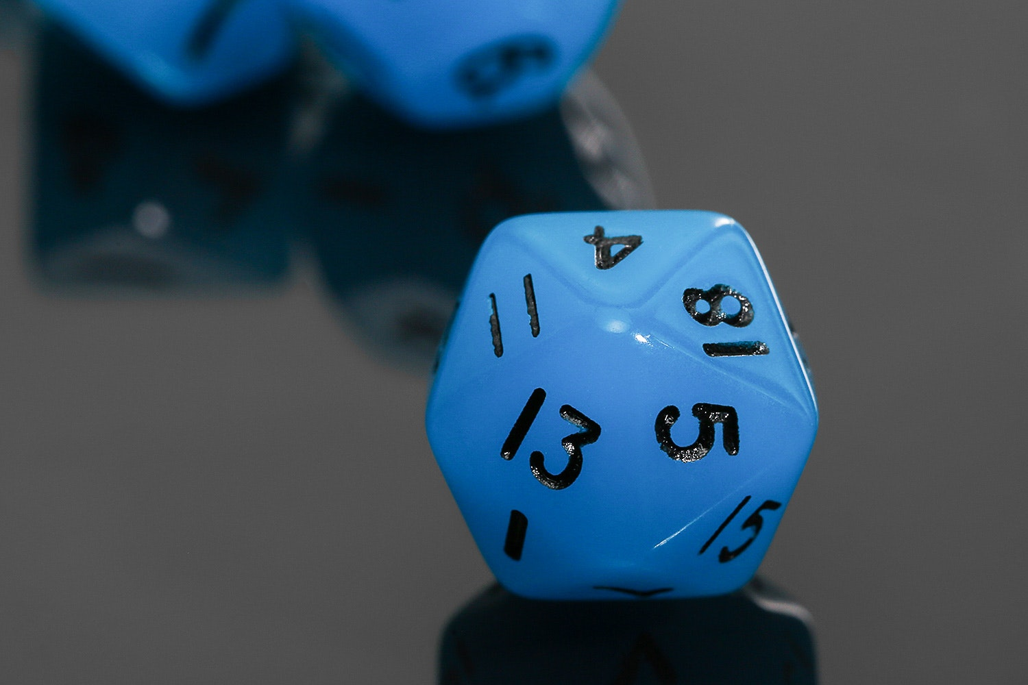 MDG Glow-in-the-Dark Mini Polyhedral Dice (4 Sets)