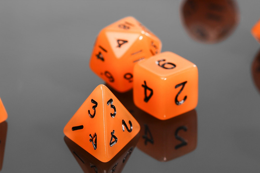 MDG Glow-in-the-Dark Mini Polyhedral Dice (4 Sets)