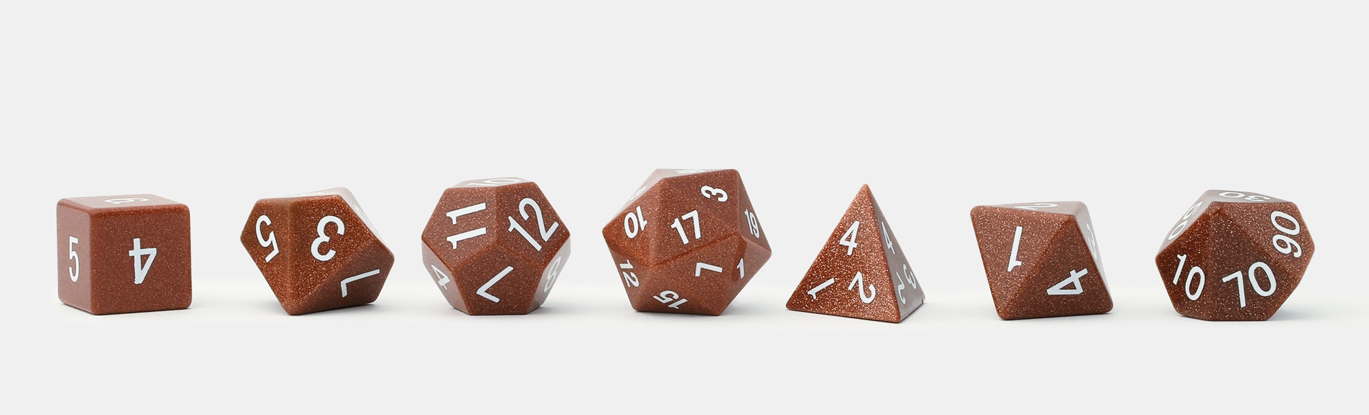 MDG Goldstone Polyhedral Dice Set