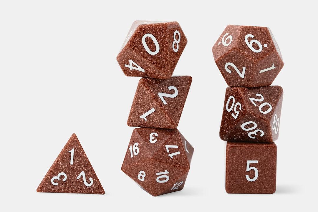 MDG Goldstone Polyhedral Dice Set