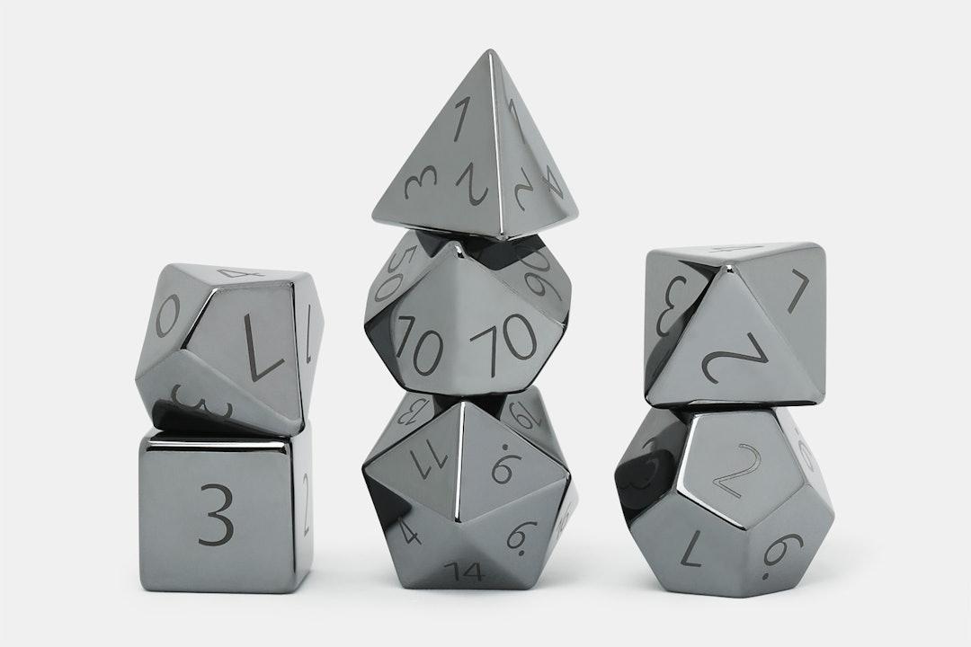 MDG Hematite 16mm Polyhedral Dice Set