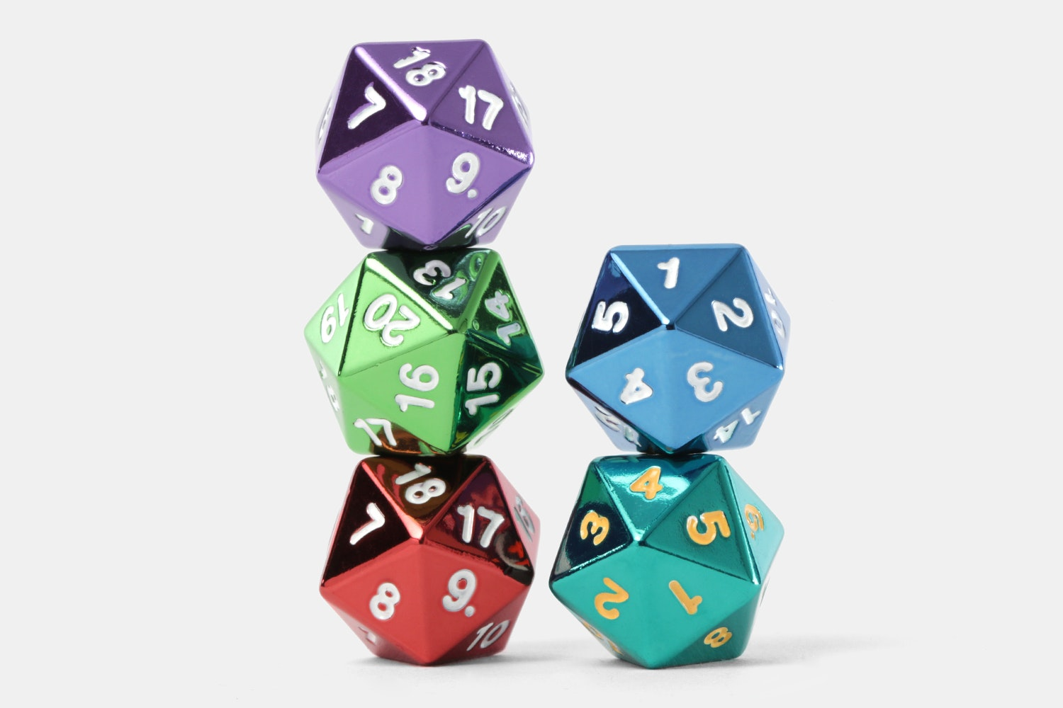 MDG Metallic Countdown D20 Assorted Colors Set