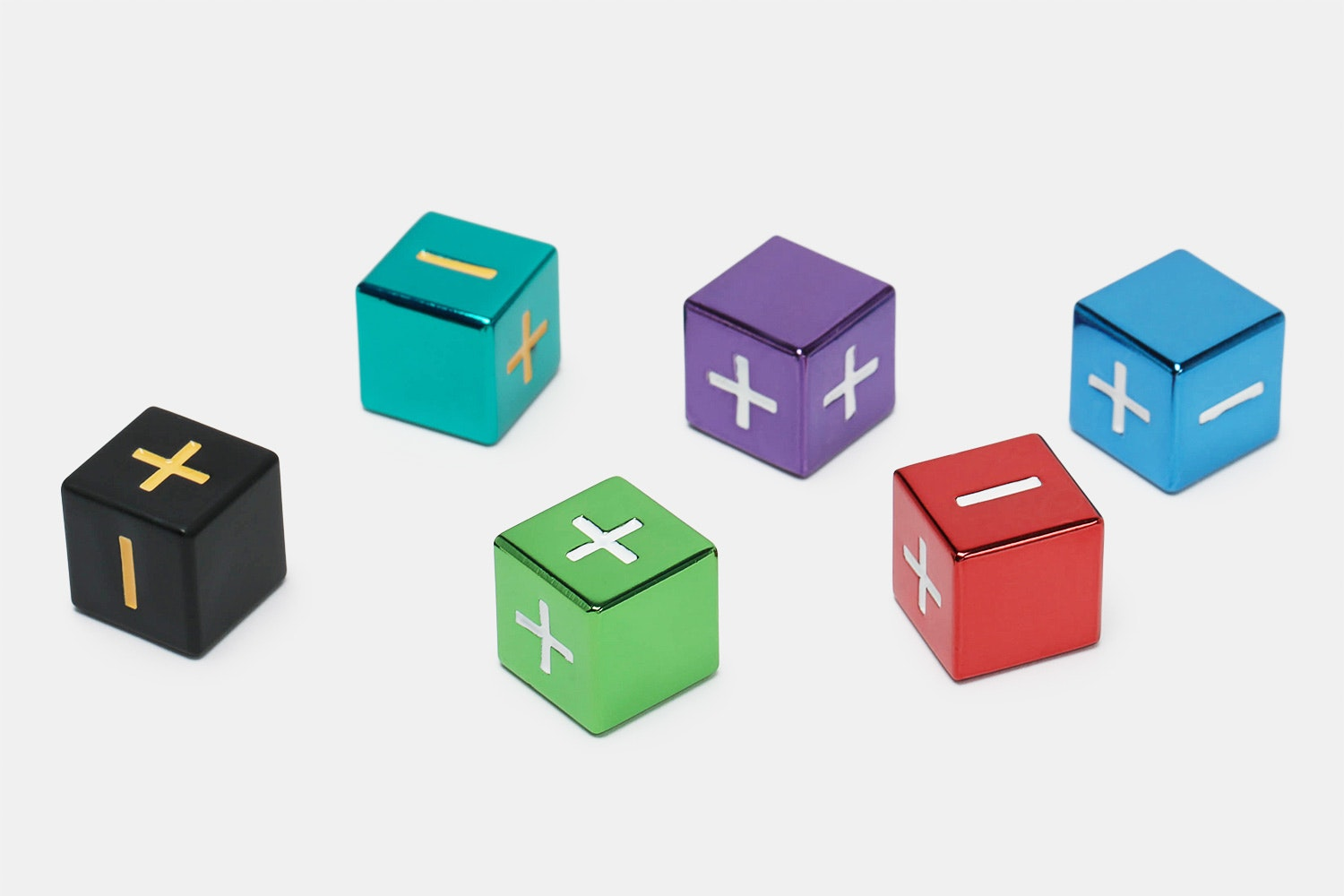 MDG Metallic Fate Dice Assorted Colors Set
