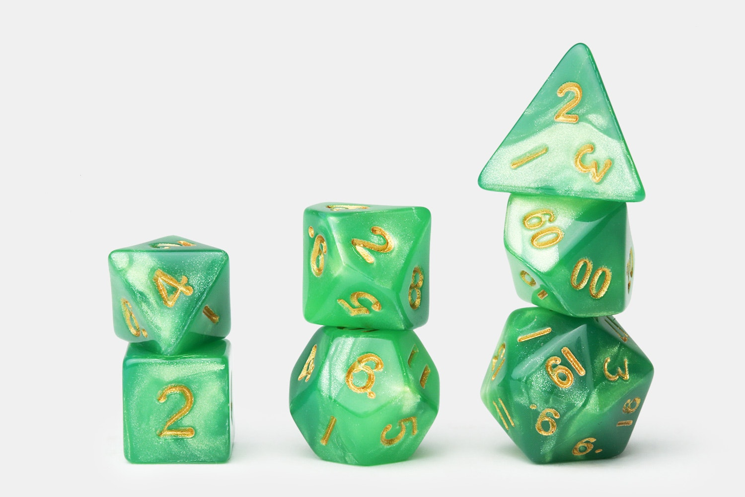 Marbled Green /Light Green w/ Gold Numbers