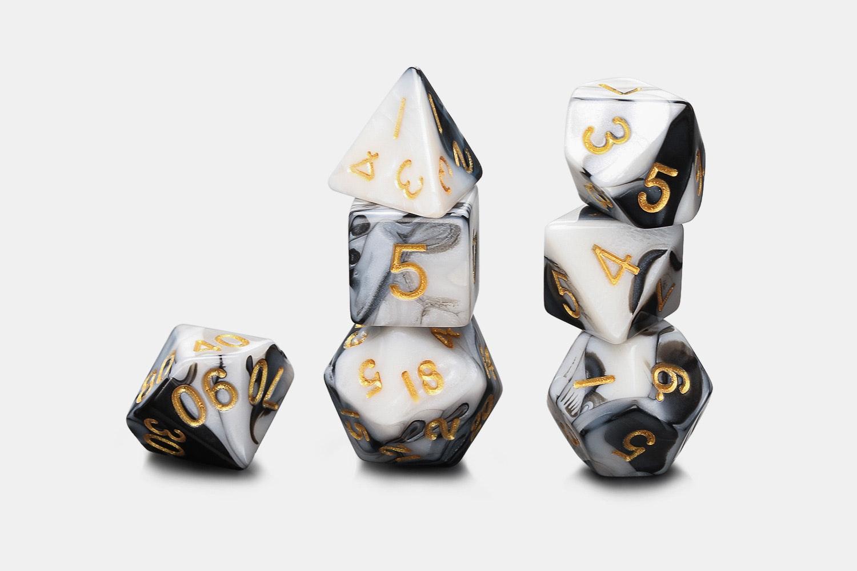 MDG Acrylic Oreo Marble Dice Sets