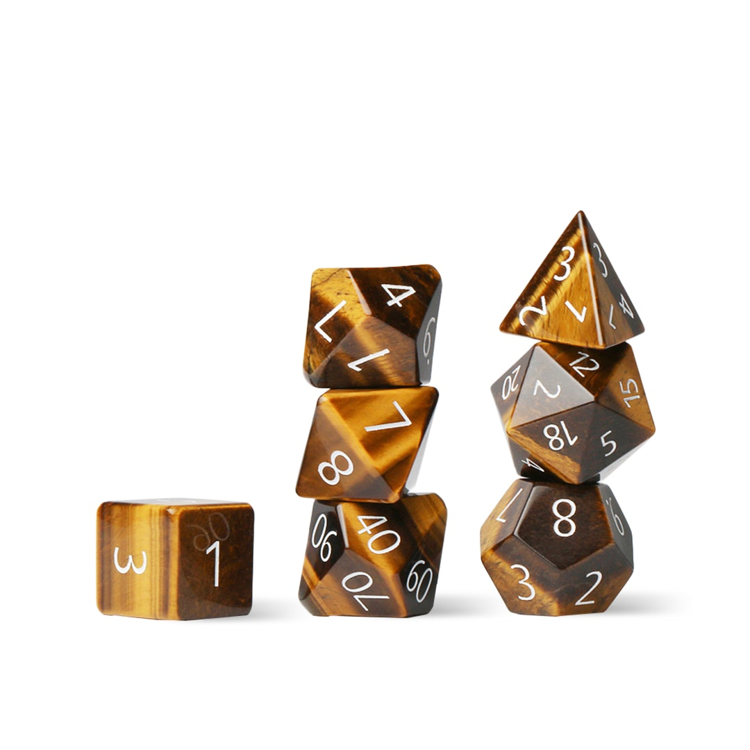 MDG Tiger's Eye Polyhedral Dice Set